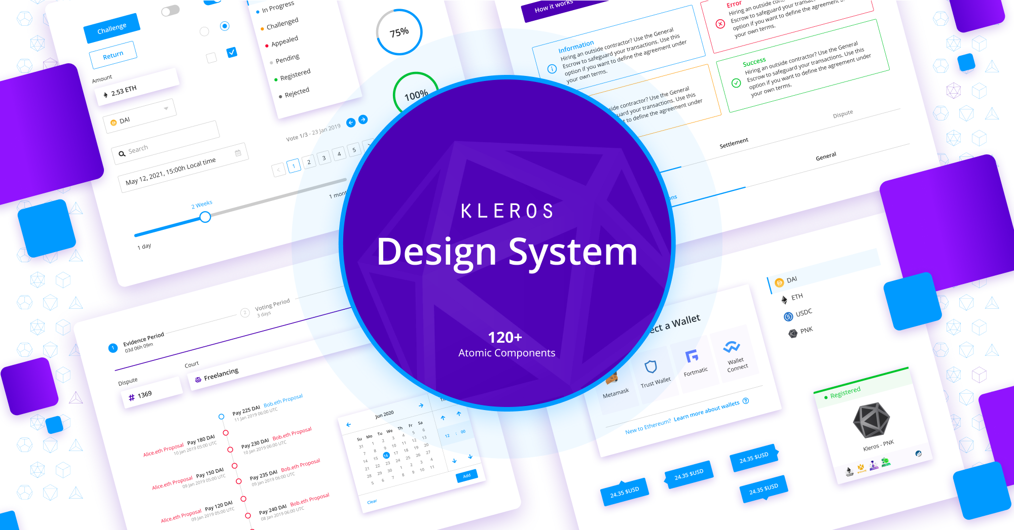 The Kleros Design System Part 1: The Principles, Structure, UI Library