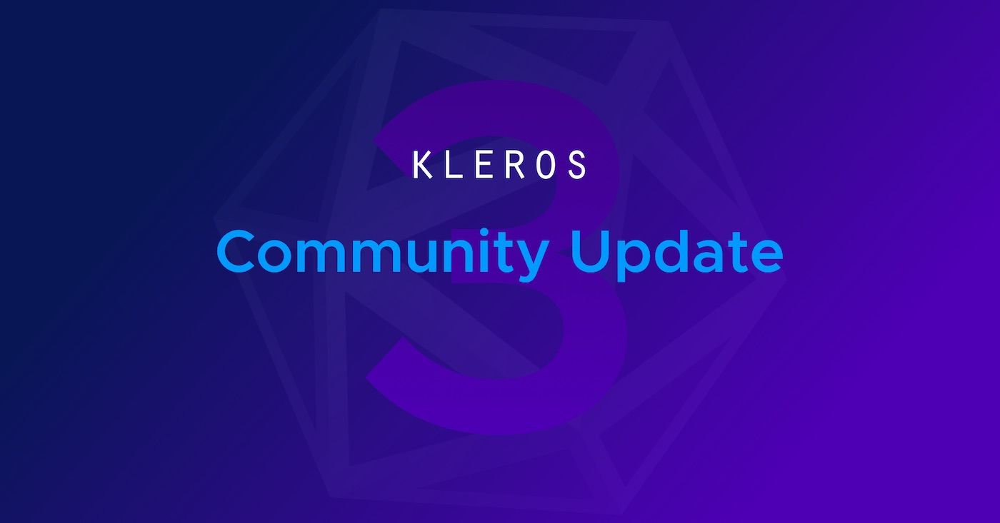 Dapps. Development. Design. Research. Kleros Community Update #3