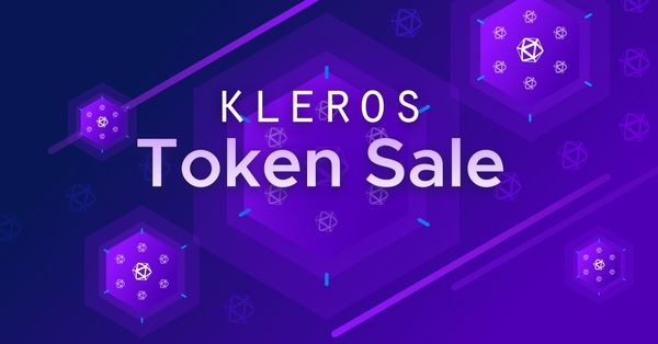 Kleros Token Sale Announcement, January 11, 2020