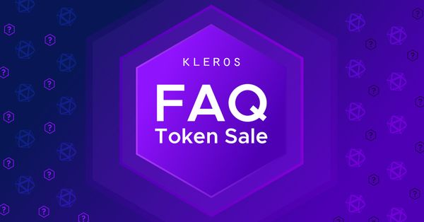 Kleros Token Sale: Frequently Asked Questions